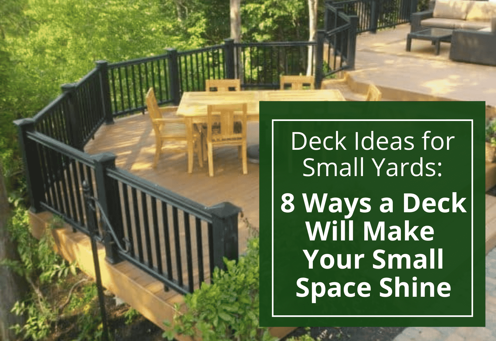deck ideas for small yards